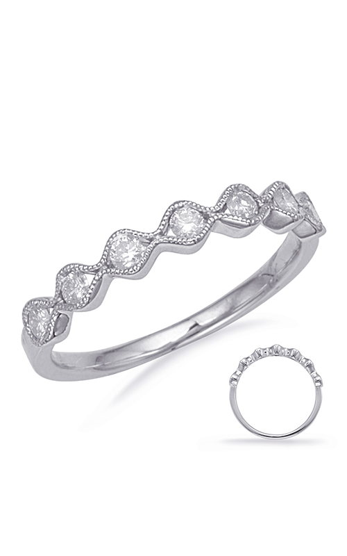 S Kashi & Sons Stackables Wedding band EN8139-BWG product image