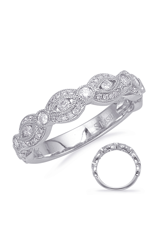 Deutsch & Deutsch Bridal Stackables Wedding band EN8144-BWG product image