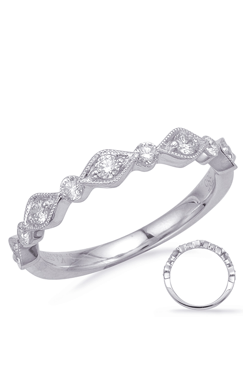 S Kashi & Sons Stackables Wedding band EN8148-BWG product image