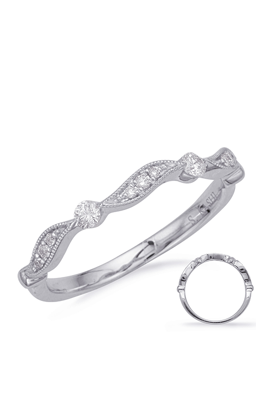 Deutsch & Deutsch Bridal Stackables Wedding band EN8155-BWG product image
