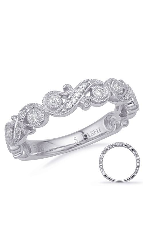 S Kashi & Sons Stackables Wedding band EN8173-BWG product image