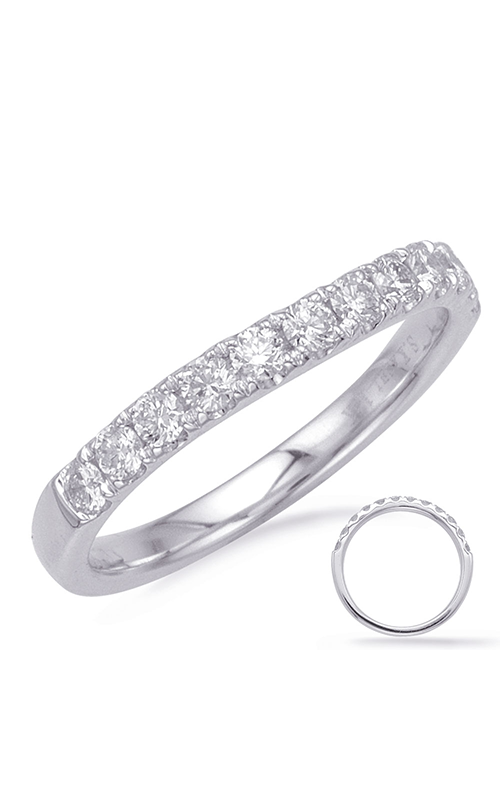 S Kashi & Sons Curved Wedding band EN8187-BWG product image