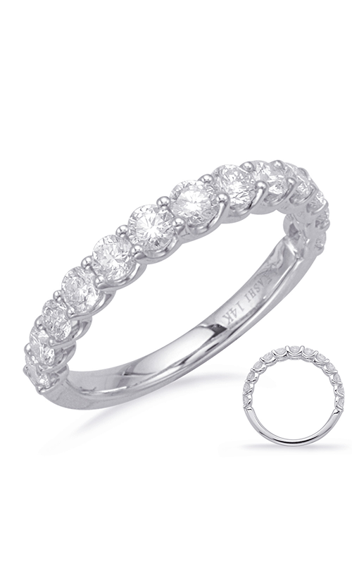 S Kashi & Sons Prong Set Wedding band EN8221-BWG product image