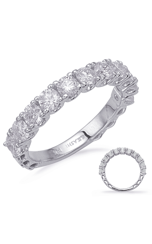 Deutsch & Deutsch Bridal Prong Set Wedding band EN8225-BWG product image
