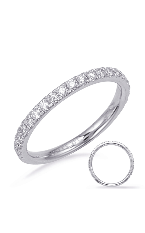 S Kashi & Sons Prong Set Wedding band EN8203-BWG product image