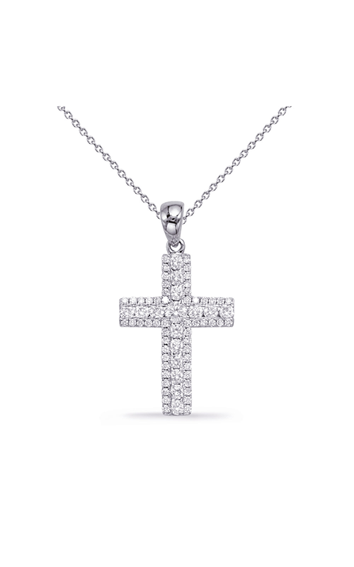 S Kashi & Sons Cross Necklace P3321WG product image