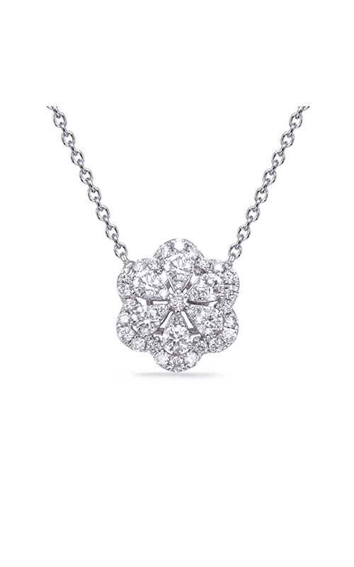 S Kashi & Sons Flower Necklace N1240WG product image
