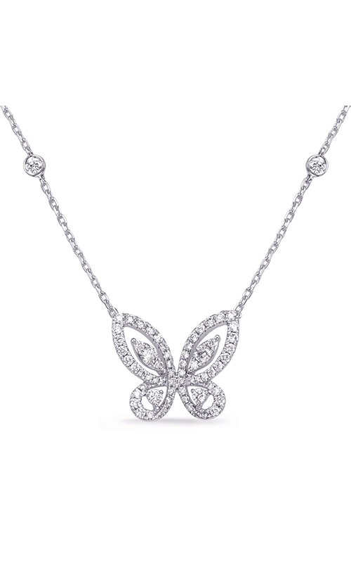 S Kashi & Sons Butterfly Necklace N1246WG product image
