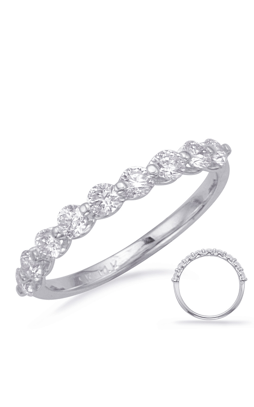 S Kashi & Sons Prong Set Wedding band EN1708-BWG product image