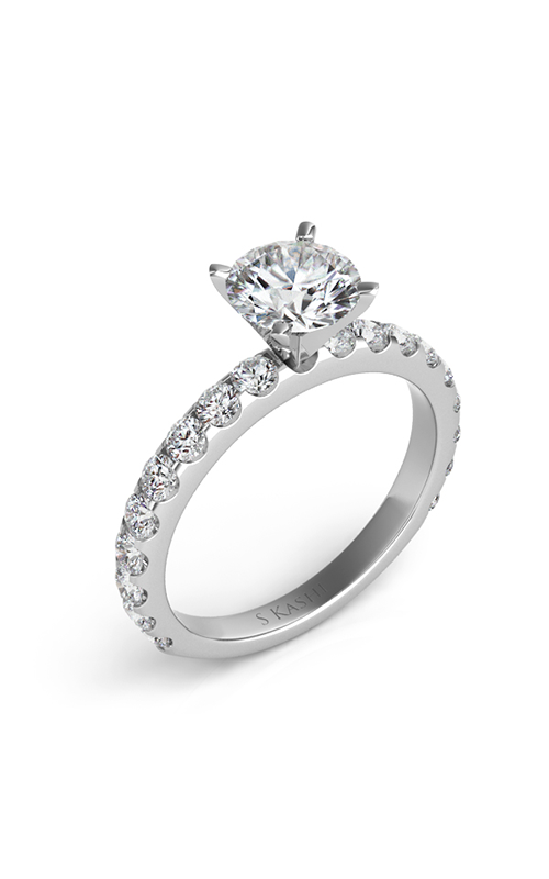 S Kashi & Sons Side Stone Engagement ring EN7006WG product image