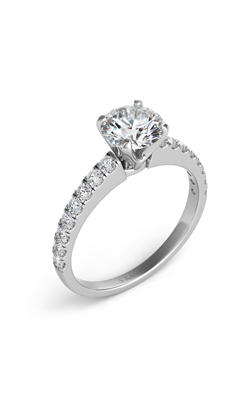S Kashi & Sons Side Stone Engagement ring EN7217WG product image