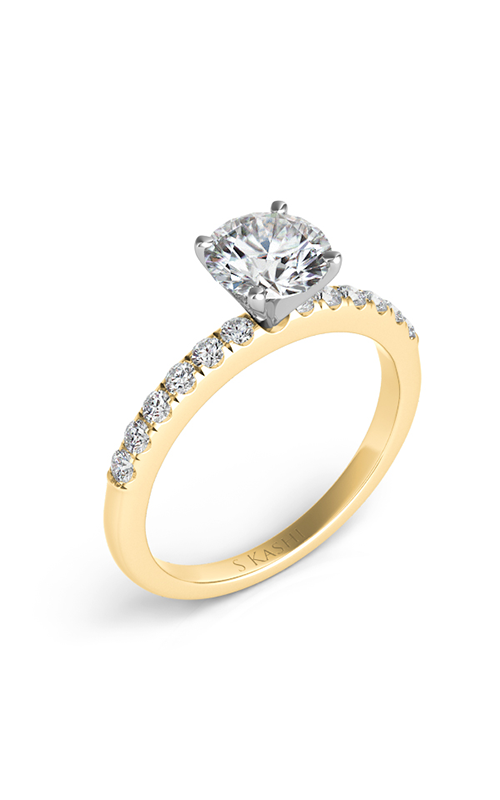 S Kashi & Sons Side Stone Engagement ring EN7195YG product image