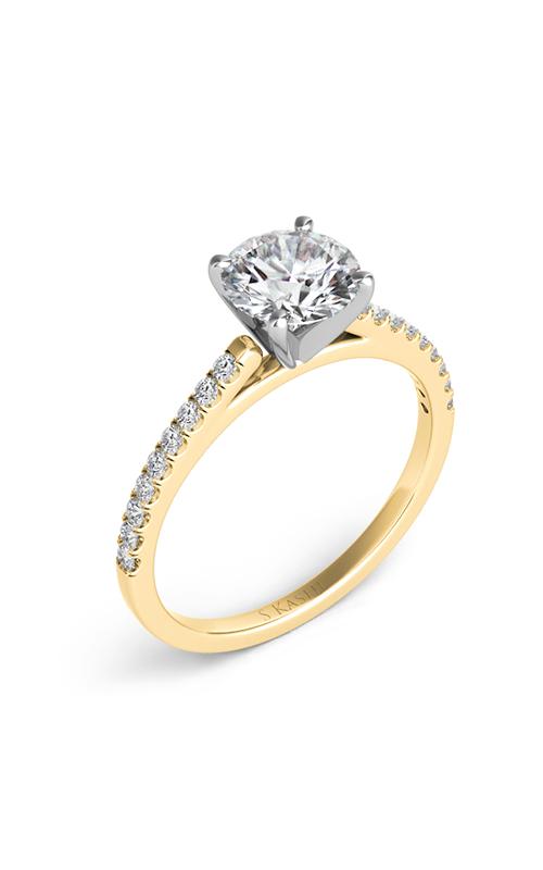 S Kashi & Sons Side Stone Engagement ring EN7442YG product image