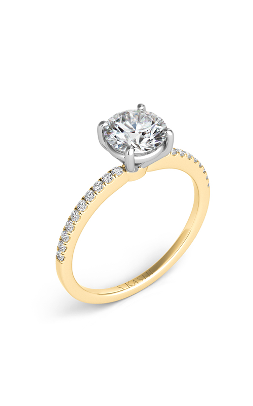 S Kashi & Sons Side Stone Engagement ring EN7470-1YG product image