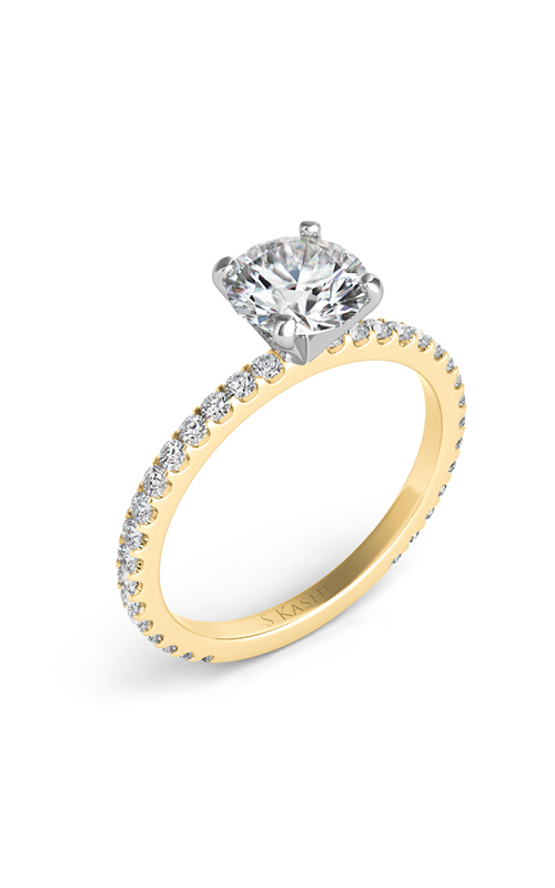 Deutsch & Deutsch Bridal Side Stone Engagement ring EN7285YG product image