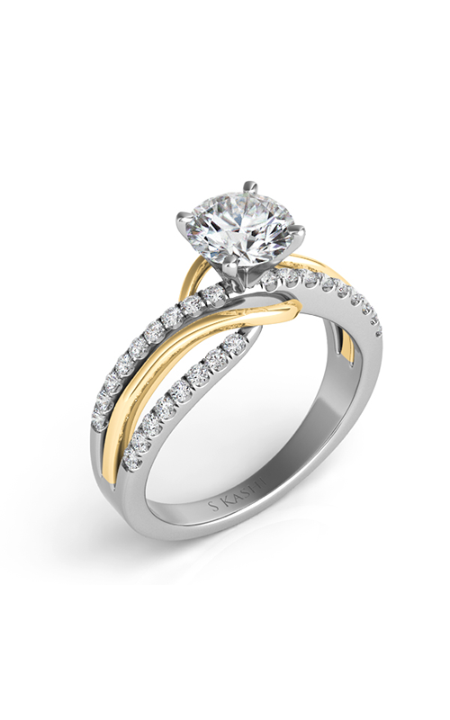S Kashi & Sons Bypass Engagement ring EN7533-1YW product image
