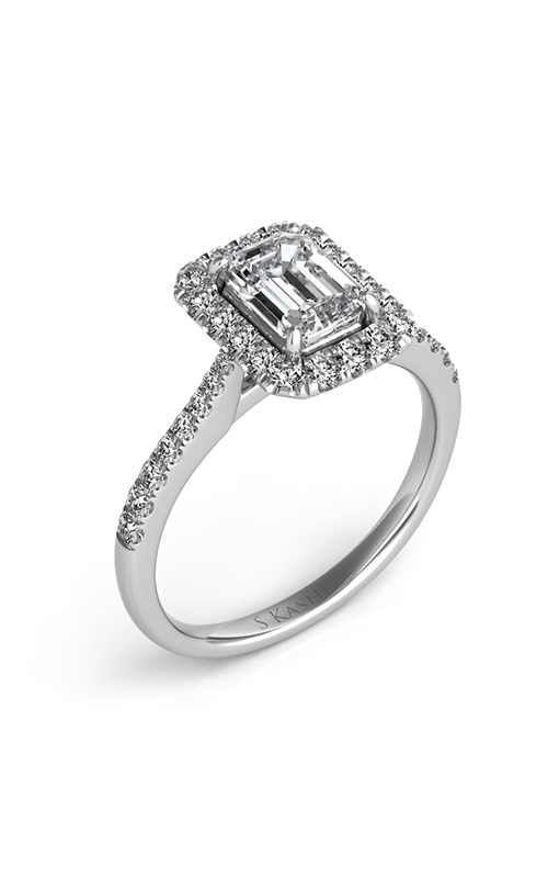 S Kashi & Sons Halo Engagement ring EN7597-6X4MWG product image