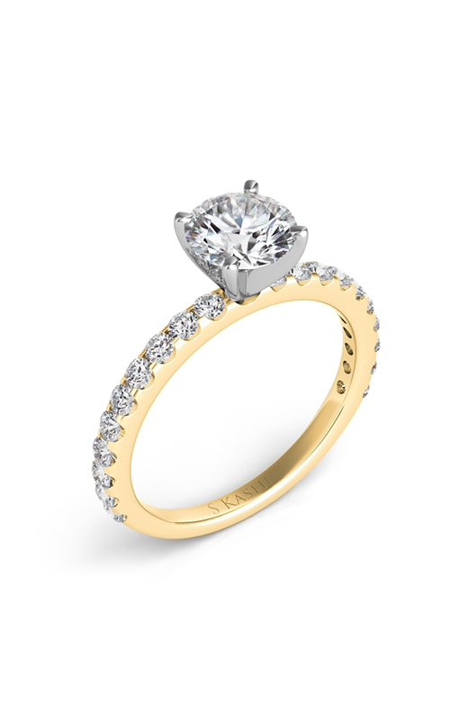 S Kashi & Sons Side Stone Engagement ring EN7581YG product image