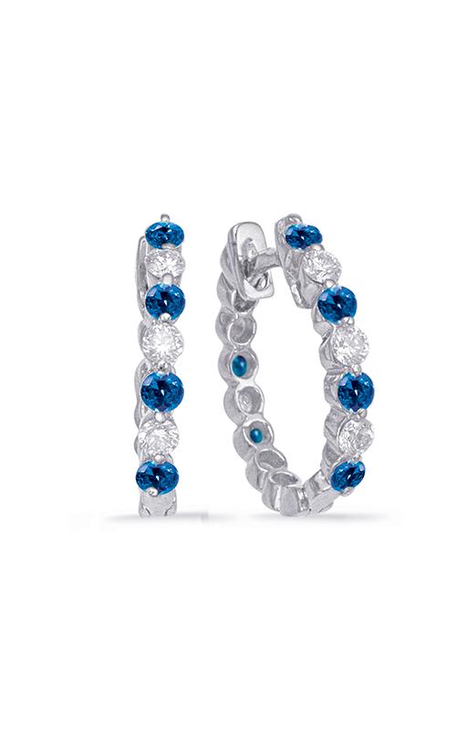 S Kashi & Sons Hoops Earrings E7665-SWG product image
