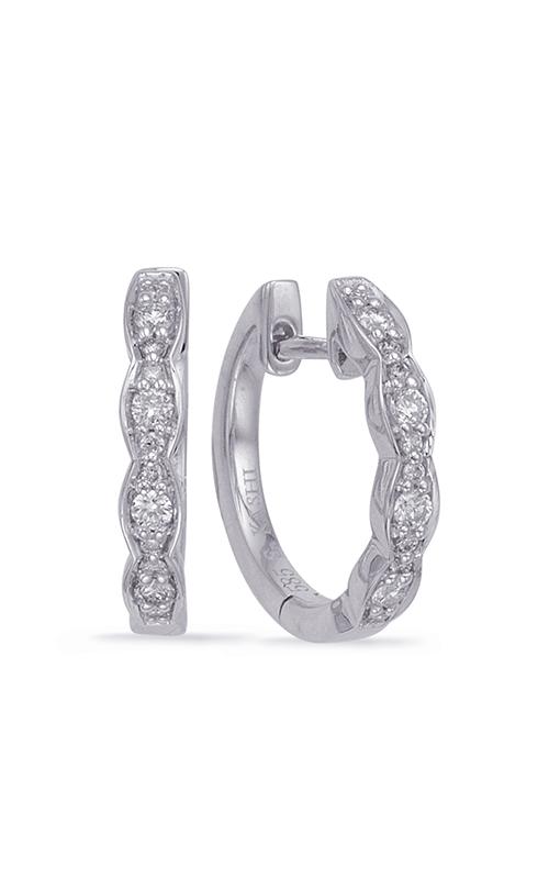 S Kashi & Sons Huggies Earrings E7968WG product image