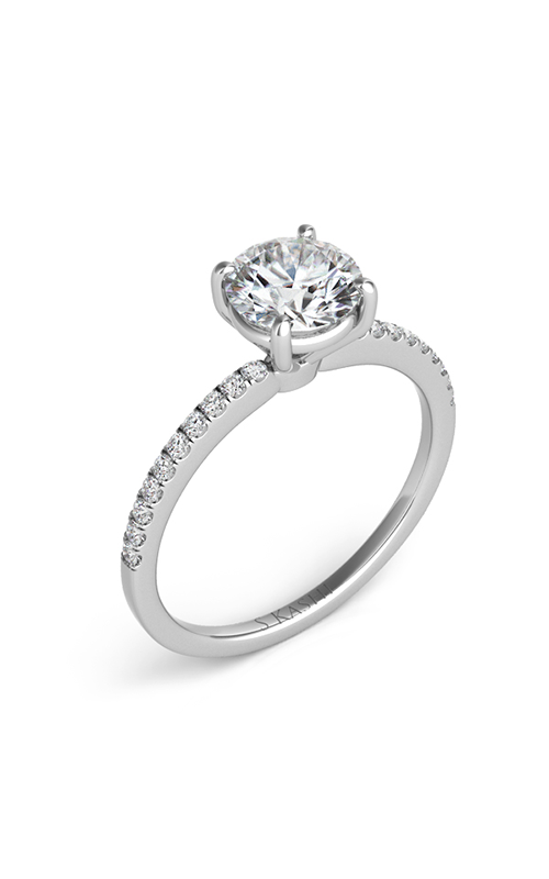 S Kashi & Sons Side Stone Engagement ring EN7470-50WG product image