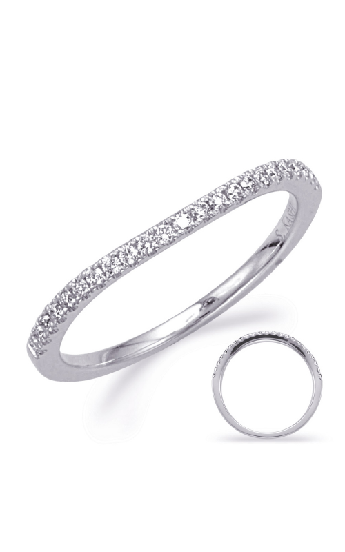 S Kashi & Sons Curved Wedding band EN8127-B75WG product image