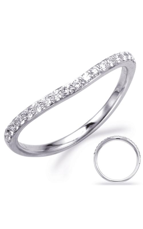 S Kashi & Sons Curved Wedding band EN8003-B1WG product image