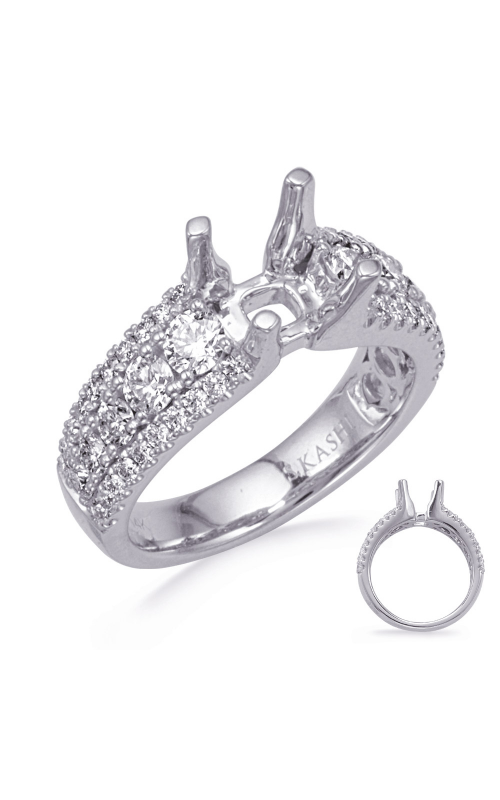 S Kashi & Sons Micro Pave Engagement ring EN8317-2PL product image