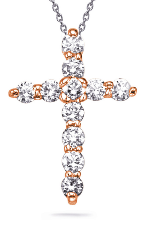 S Kashi & Sons Cross Necklace P2232RG product image
