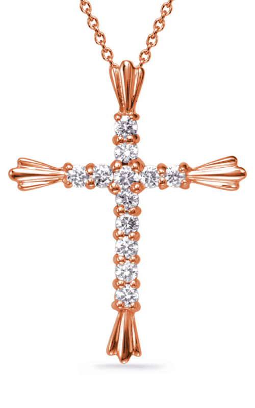 S Kashi & Sons Cross Necklace P2218RG product image