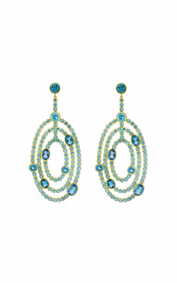 Sloane Street Jewelry Earrings SS-E214T-SWB-LB-Y product image