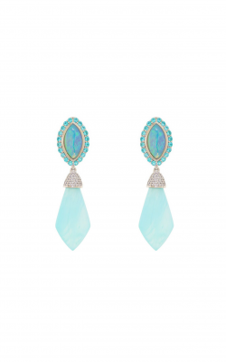 Sloane Street Jewelry Earrings SS-E157T-BLO-CO-PA-WD-W product image