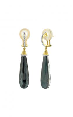Sloane Street Jewelry Earrings SS-E012B-ETT-WDCB-Y product image
