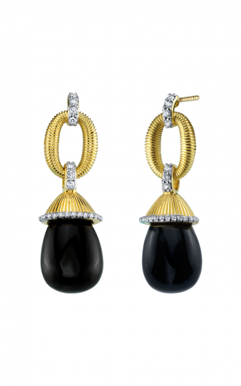 Sloane Street Jewelry Earrings SS-E010E-ONX-WDCB-Y product image