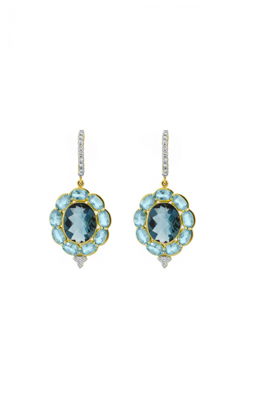 Sloane Street Jewelry Earrings SS-E208T-LB-SWB-WDCB-Y product image