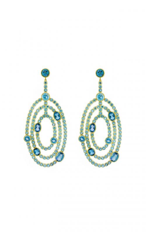 Sloane Street Jewelry Earrings SS-E214T-SWB-LB-Y product image