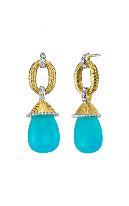Sloane Street Jewelry Earrings SS-E010E-AC-WDCB-Y product image