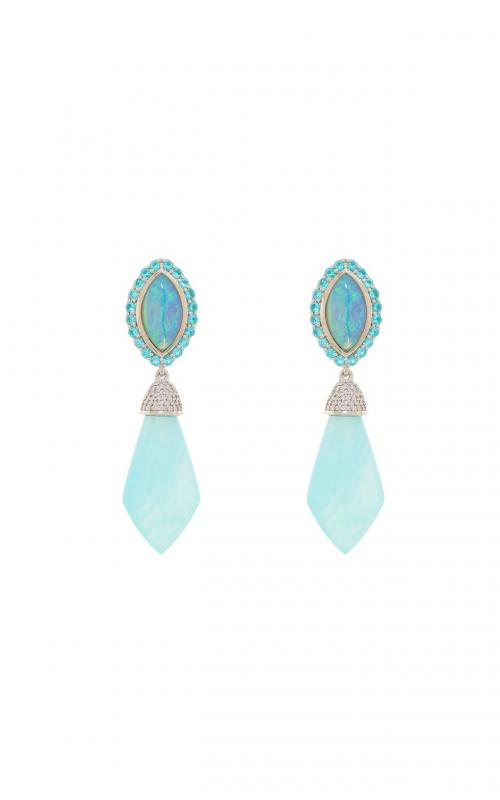 Sloane Street Jewelry Earrings SS-E157T-BLO-CO-PA-WD-W product image