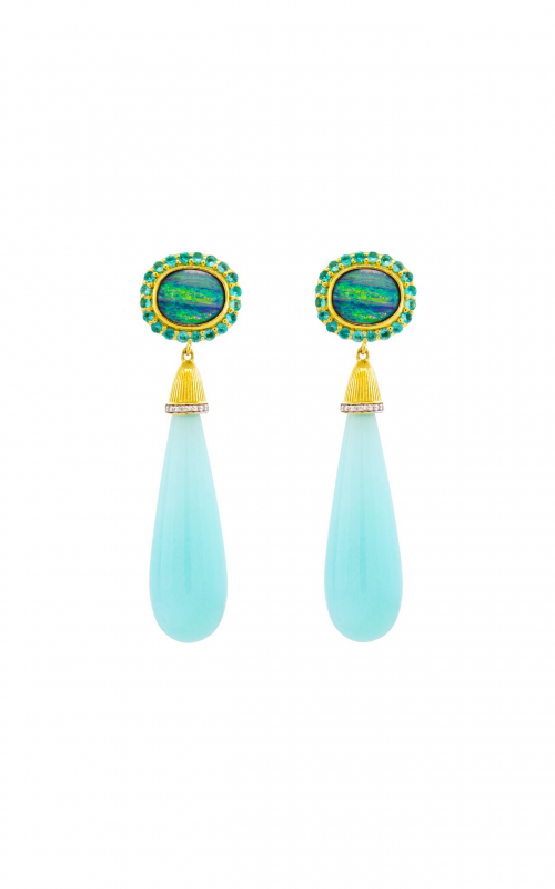 Sloane Street Jewelry Earrings SS-E195T-BLO-CO-PA-WDCB-Y product image