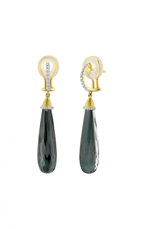 Sloane Street Jewelry Earrings SS-E012B-ETT-WDCB-Y product image