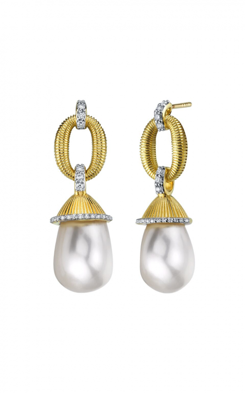 Sloane Street Jewelry Earrings SS-E010E-WP-WDCB-Y product image