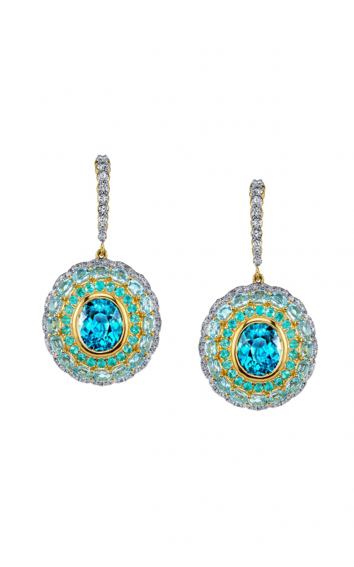 Sloane Street Jewelry Earrings SS-E181T-BZ-BTSK-PA-WDCB-Y product image