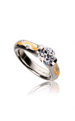 Steven Kretchmer Tension Rings Engagement ring Omega Round Wiggley Stripe product image