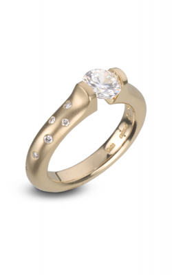 Steven Kretchmer Tension Rings Engagement ring Omega Round with Melee product image