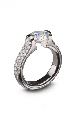 Steven Kretchmer Tension Rings Engagement ring Omega Round with Pave product image