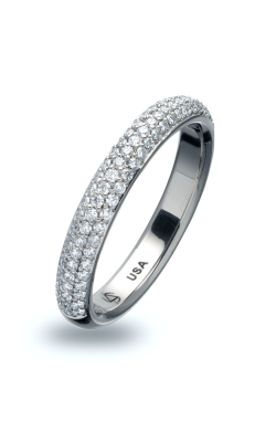 Steven Kretchmer Matching Tension Bands Wedding band Omega 3 Row Pave product image