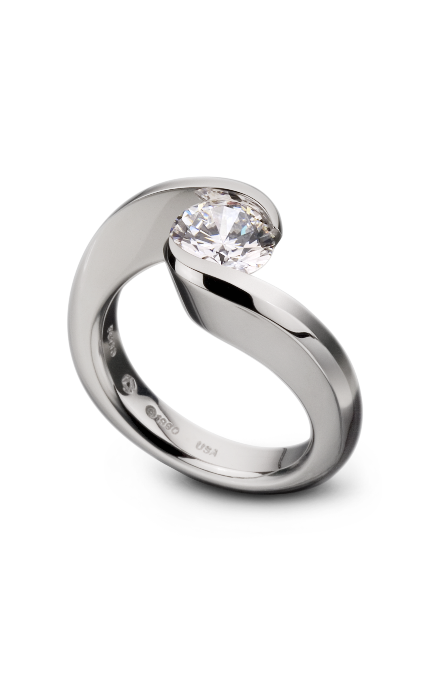 platinum product rings gold white ring design in sapphire with swirl or