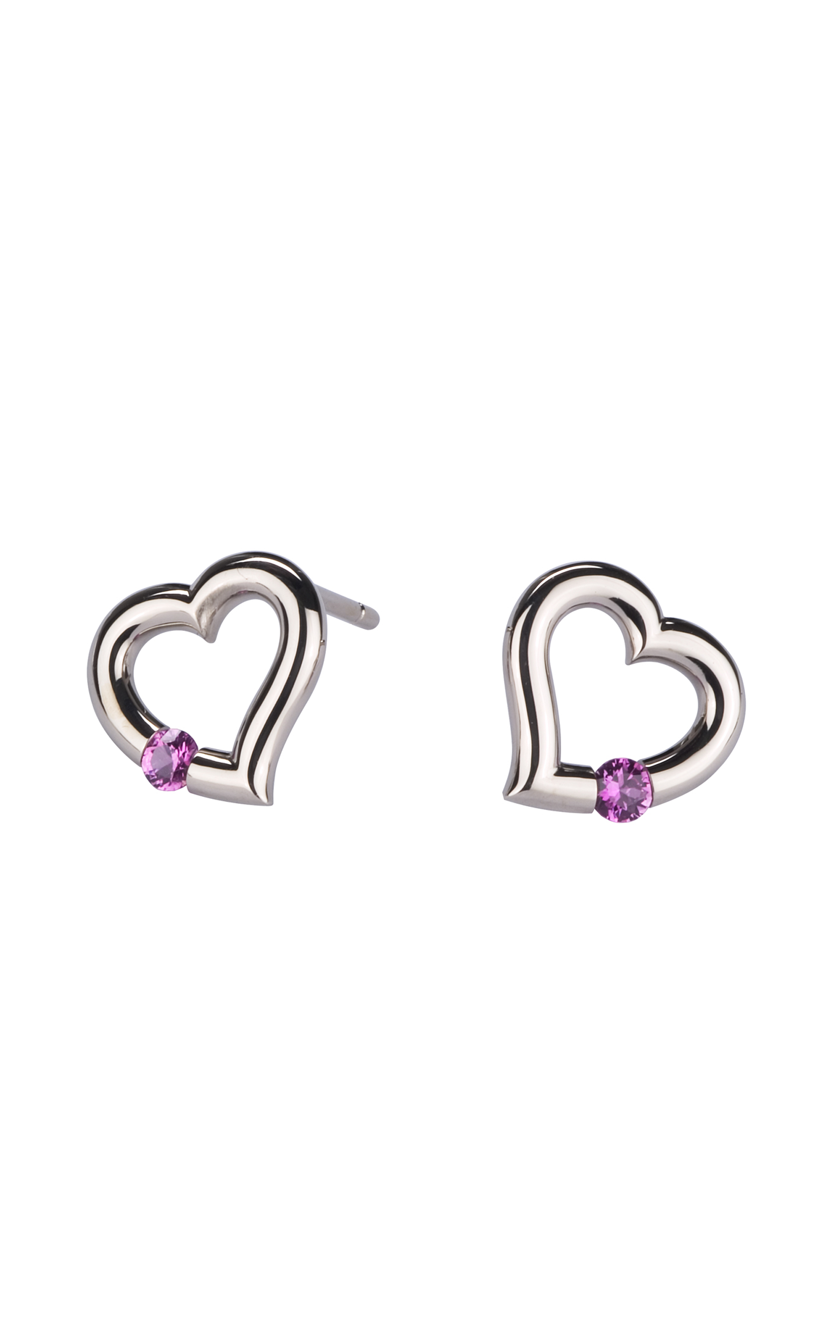 amethyst ablaze heartshapedearringswhite clear stud earrings silver heart sterling jewelry plated wholesale products inlaid shape shaped