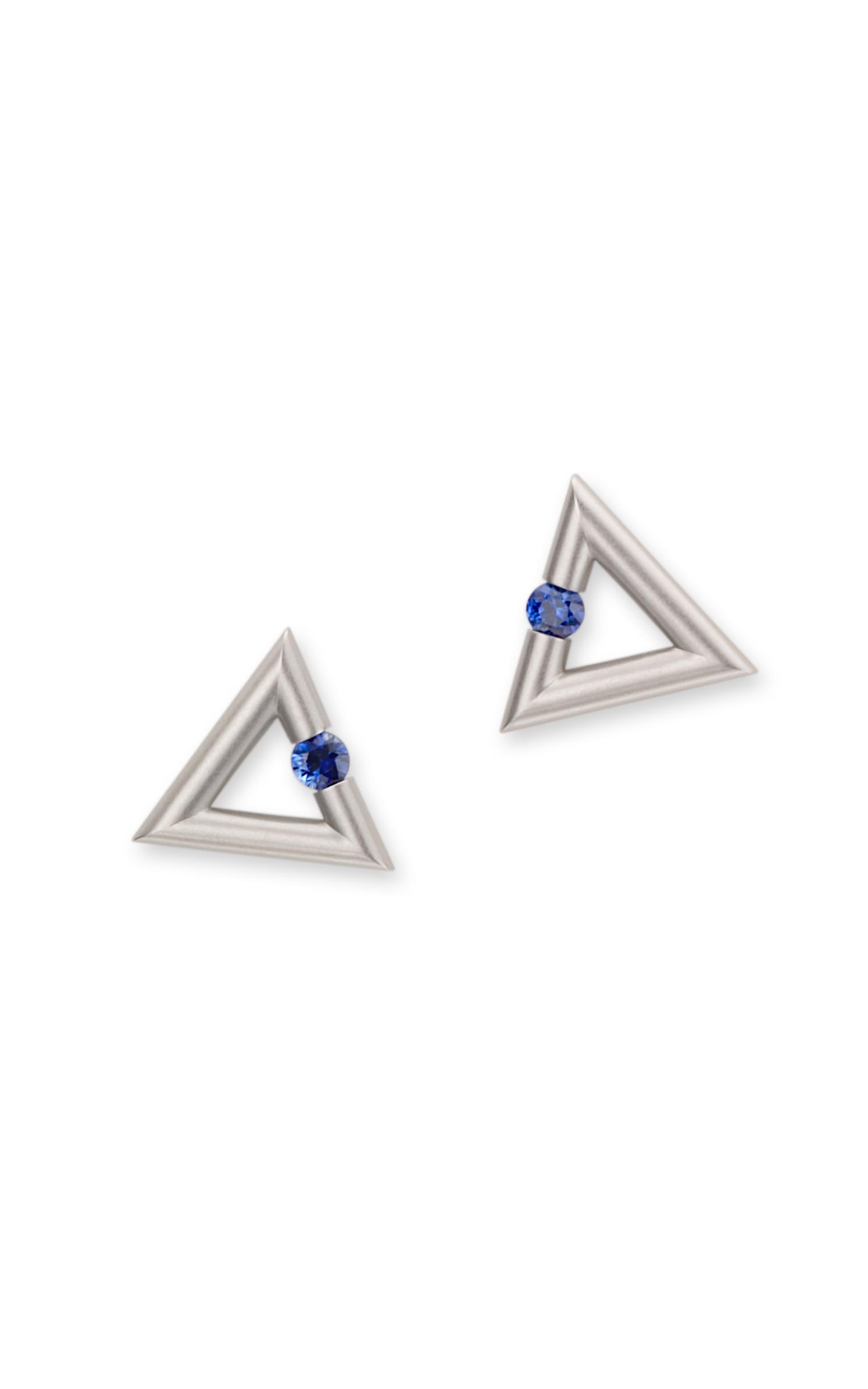 Shop Steven Kretchmer Micro Triangle Earrings