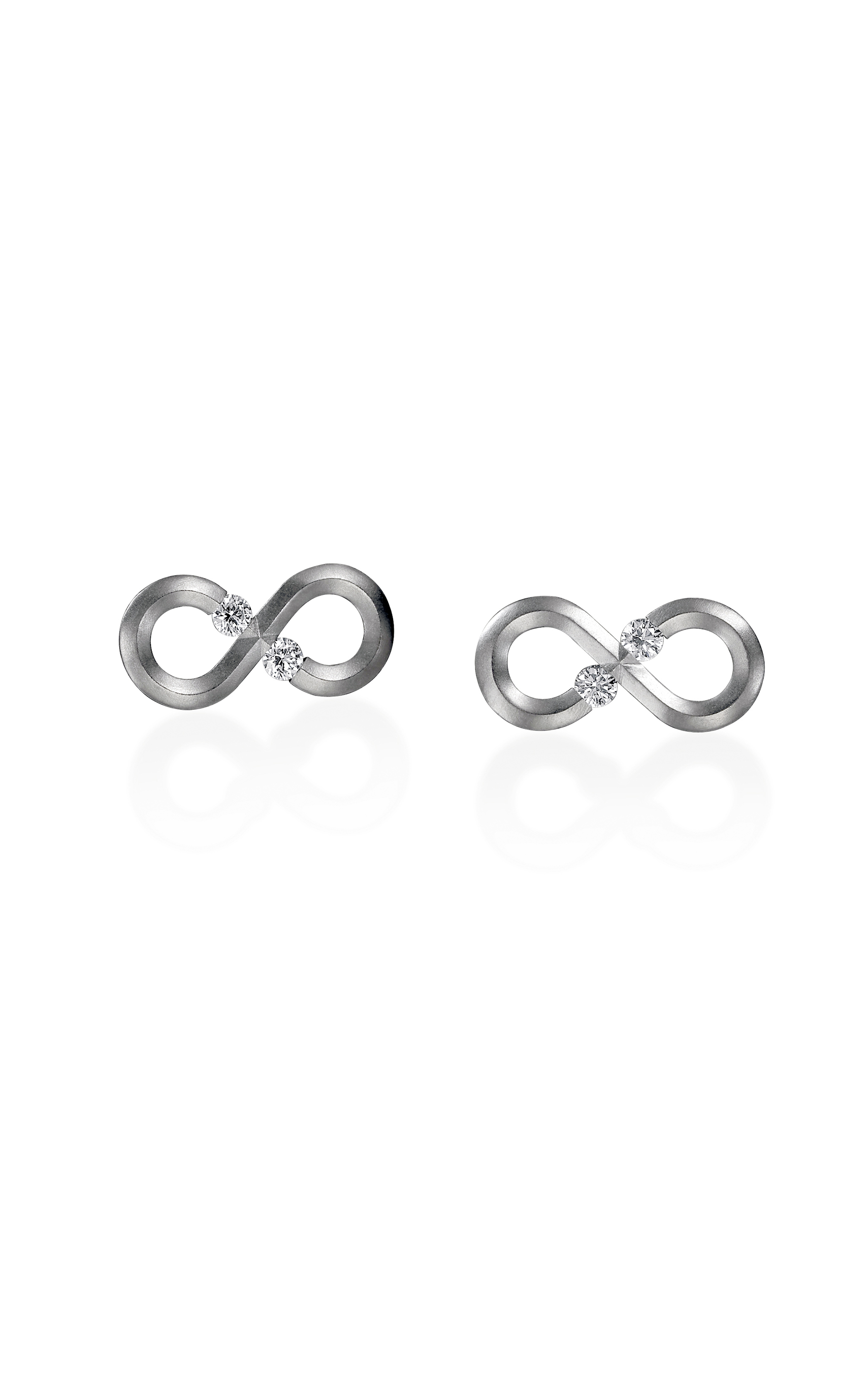 asp p earrings link infinity gold